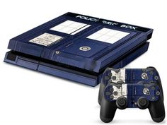 *NEW* Playstation 4 Skin! Featured Character : Doctor Who Includes : - (2) Controller Skins - (1) Console Skin