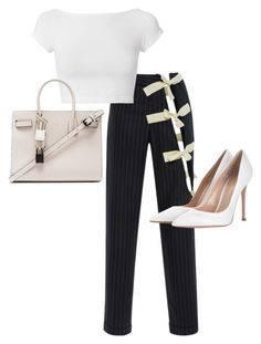 """""""Untitled #23651"""" by florencia95 ❤ liked on Polyvore featuring Jacquemus, Helmut Lang, Gianvito Rossi and Yves Saint Laurent"""