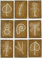 Art Projects for Kids fossil trading cards