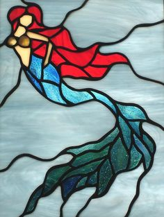Stained Glass Mermaid: