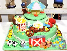 Decorated cake from Domino Sugar Cake Decorating Contest at The Big E in 2012.
