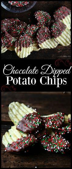 Learn how to make Chocolate Dipped Potato Chips with easy recipe. Where I grew up in Florida we have a candy shop that makes chocolate covered potato chips. Christmas Snacks, Holiday Treats, Holiday Recipes, Christmas Candy, Christmas Cookies, Christmas Recipes, Christmas Appetizers, Christmas Eve, Xmas Desserts