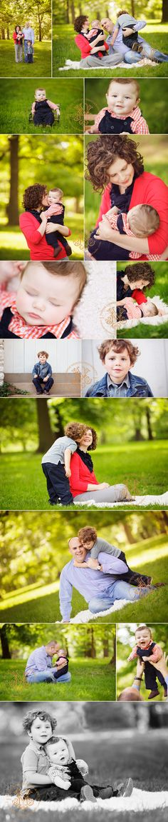 Love the pop of red and how all of their outfits coordinate together.   Athens, GA family photography by Yvonne Niemann Photography http://www.yvonneniemannphotography.com