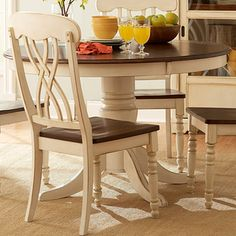 Breakfast Table Inspiration Piece The Cream Color And Antiquing - Round table and stool set
