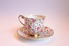 vintage tea cup and saucer rare limited edition