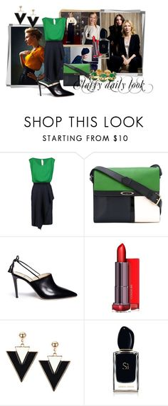"""""""Classy daily look"""" by m-illumino-di-glamour ❤ liked on Polyvore featuring Vionnet, Lanvin, Alexander White, Armani Beauty and Chloé"""