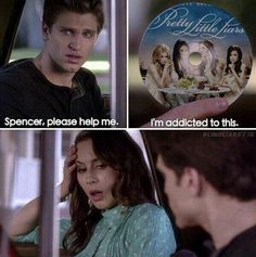Image shared by Tiegan. Find images and videos about pretty little liars, pll and yes on We Heart It - the app to get lost in what you love. Pretty Little Liars Meme, Preety Little Liars, Pll Quotes, Pll Memes, Freelee The Banana Girl, Pll Logic, Spencer And Toby, Best Shows Ever, Favorite Tv Shows