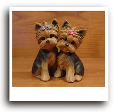 web1 yorkshire terrier pups pic yorkie ornaments cute