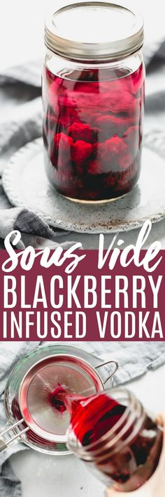 Blackberry Sous Vide Infused Vodka Blackberry Sous Vide Infused Vodka makes the perfect base for a delicious Blackberry Lemon Drop Martini. This tart and tangy cocktail is made extra flavorful with blackberry infused vodka & a sugar rim. Vodka Recipes, Sangria Recipes, Cocktail Recipes, Margarita Recipes, Recipes Dinner, Lemon Drop Martini, Vodka Lime, Lime Juice, Fruit Infused Vodka