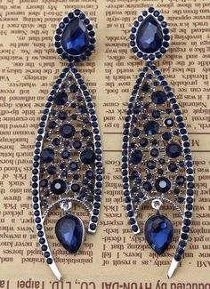 Fashion Luxury Wedding Bridal Crystal Drop Fish Shape Pendant Dangling Earrings | eBay