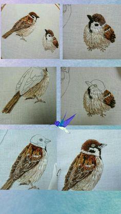 Broderie oiseau pas à pas