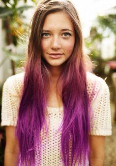 Tri-colored ombre hair