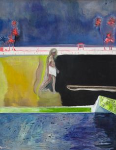 Peter Doig Figure by the Pool 2008-2012