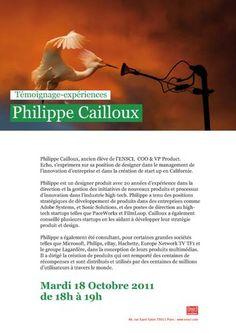 Rencontre des Ateliers avec Philippe Cailloux, ancien élève de l'ENSCI,COO & VP Product, USA, 2011