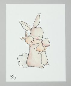 mom and baby bunny! My nickname with m u mom is nuggle bunny (when I was little I was her snuggle bunny, but couldn't say my s's.) This would be a perfect tattoo idea!