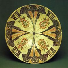 Bowl. Afrasiab (Samarkand), Central Asia. 10th-12th centuries. Clay, with underglaze slip decoration.