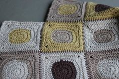 Crochet circles in squares