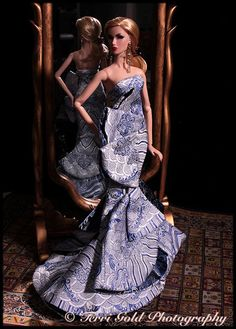 Collecting Fashion Dolls by Terri Gold: Dasha and Elise Model R&D Exclusive Fashions