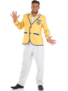 e03851fb9aa Hi de hi yellow coat fancy dress