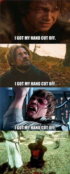 Star Wars + Game of Thrones + Monty Python and the Holy Grail