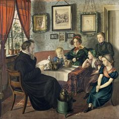 Pastor Johann Wilhelm Rautenberg and his Family, 1833 (w/c on paper)