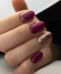 31 Chic Glitter Nail Art Designs : Blue nails #nailart #nails #manicure