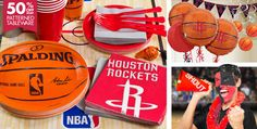 NBA Houston Rockets Party Supplies - Party City