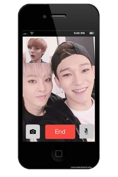 When Xiumin and Chen calls Luhan! This is cute! People are so good at making these!