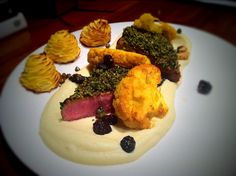 Crusted Lamb Loin, Cauliflower and Duchess Potatoes