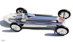 Sculpture automobile - Car Sculpture - Modèle d'étude P38 R par Benoit de Clercq