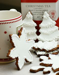 christmas cookies + white