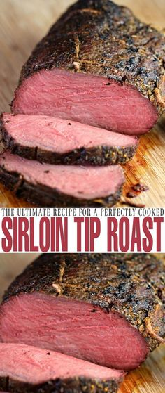 Sirloin Tip Roast - Frugal Mom Eh! Cook a perfect sirloin tip roast with this recipe each and every time. Juicy, full of flavour and cooked to perfection, you can't go wrong with an herb crusted roast like this! Carne Asada, Roast Recipes, Dinner Recipes, Rib Recipes, Recipies, Roast Beef Recipes, Chicken Recipes, Sweet Recipes, Kabob Recipes