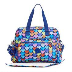 Alanna Printed Baby Bag - Festive Beauty Blue