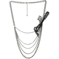 Lace Rhinestone Swag Necklace ($6.99) ❤ liked on Polyvore featuring jewelry, necklaces, accessories, jewelry., women, rhinestone necklace, chain link jewelry, lobster clasp necklace, wet seal necklaces and wet seal jewelry