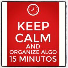 Você pode fazer qualquer coisa em 15 minutos!   www.chegadebagunca.com