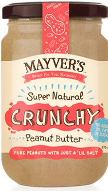 I tried the coconut/peanut spread, but was disappointed they didn't use Australian peanuts. Glad to see their peanut butter is all Australian, and having bought it yesterday, can confirm its deliciousness! Mayvers Pure-State Super Natural Crunchy Peanut Butter | Mayvers