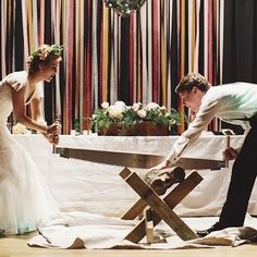 Log cutting, Germany | 21 Extraordinary Wedding Traditions From Around The Globe