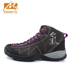 68.73$  Buy here - http://ali0pf.worldwells.pw/go.php?t=32719673236 - 2017 Merrto Women Hiking Shoes Breathable Outdoor Shoes For Women Suede Leather Free Shipping MT18582