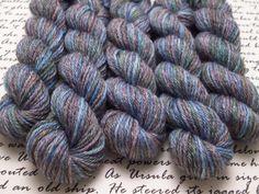 Moonrise Mini Skein / Fingering Weight / Merino Blend Wool Sock Yarn by AstraeaMeris on Etsy