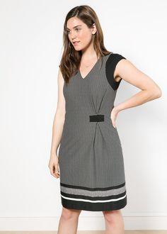 Contrast sleeve printed dress #violetaBYMANGO #New #FW14