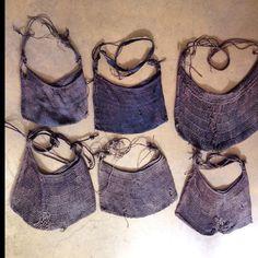 Nepalese indigo fishing bags