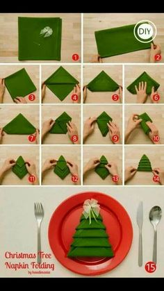 How To Fold Christmas Tree Napkins diy craft ideas christmas easy crafts party ideas diy christmas ideas craft christmas decor craft christmas ideas diy christmas party ideas diy christmas crafts diy christmas gift christmas table Christmas Tree Napkin Fold, Noel Christmas, Winter Christmas, Christmas Napkins, Christmas Lunch, Christmas Morning, Christmas Dinners, Origami Christmas, Nordic Christmas