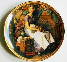 """Norman Rockwell """"Dreaming in the Attic"""" Knowles Collectors Plate 1981 with COA and Box"""