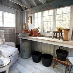 Garden shed interior design ideas