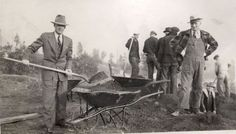 Work underway at the West Seattle Golf Course in 1937. Photo: Seattle Municipal Archive