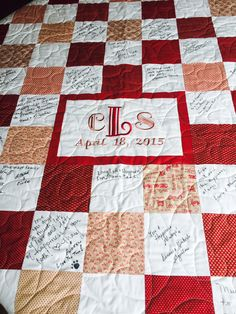 Custom Made Wedding Guest Book Quilt for by GrannySassyDesigns