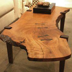 Table de bout en bois - 30 - Ahşap masa - Epoxy Home Live Edge Furniture, Log Furniture, Furniture Design, Live Edge Wood, Live Edge Table, Wood Table Design, Woodworking Furniture Plans, Woodworking Wood, Slab Table