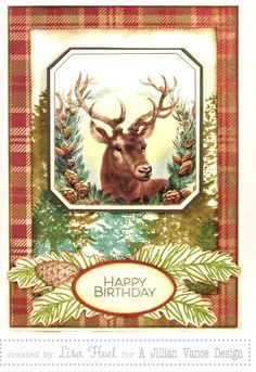 DIY Woodsy Birthday Card - Reader Features - The Graphics Fairy