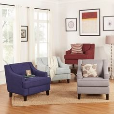 Shop for INSPIRE Q Winslow Concave Arm Modern Accent Chair. Get free shipping at…