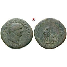 Römische Kaiserzeit, Vespasianus, Sesterz 71, s-ss: Vespasianus 69-79. Messing-Sesterz 35 mm 71 Rom. Kopf r. mit Lorbeerkranz IMP… #coins